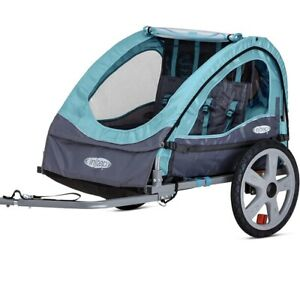 Instep Bike Trailer For Toddlers, Kids, Single And Double Seat, 2-In-1 Canopy