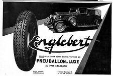 LIEGE PNEUS ENGLEBERT PUBLICITE 1929