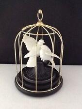 "Love Birds Music Box-Tchaikovsky's ""Our Love""-Romeo & Juliet-Franklin Mint  #365"