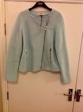 M&S Limited Edition Long Sleeve Jacket with Wool Size:14 With Zipped Pockets