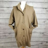 London Fog Women's Size 14 Reg Trench Coat w/ Removable Insulated Liner Brown