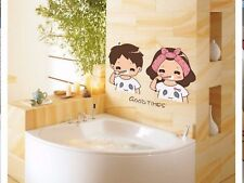 A pair of lovely warm waterproof glass bathroom tile stickers home decor BB