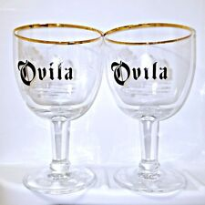 Ovila Belgian Abbey ale chalice craft beer glass sierra nevada set of 2 gold rim