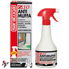 SARATOGA Z10 ANTIMUFFA SPRAY RIMUOVI ELIMINA MUFFA ALGHE 500ML SPRAY ANTIMUFFA