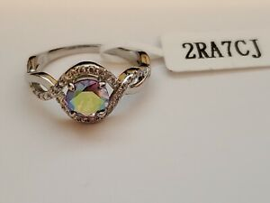 Charmed Aroma pink aurora borealis ring size 5 new with tags