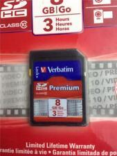 * Verbatim Premium 8GB SDHC Memory Card Class 10 Maximum Transfer Speeds