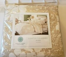 """Martha Stewart """"Sweet Petals"""" King Size Comforter Cover 100% Cotton Cozy Opened*"""
