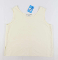 Dalia Womens Size 18 Cream Embroidered Top (Regular)