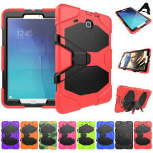 "Stand Armor Case For Samsung Galaxy Tab E 8"" T377 9.6 T560 with Screen Protector"