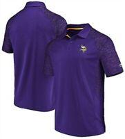 Minnesota Vikings Mens Purple Majestic Reflective Logo Synthetic Polo Shirt