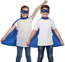 HALLOWEEN ENFANTS Accessoire Déguisement cape & Masque Bleu enfants Cape NEUF W