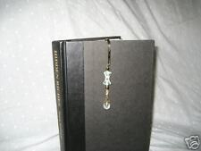 Book Mark Beaded  with hand made with bow shaped flower bead gold clear beads