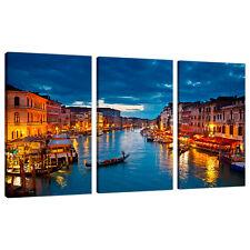 Dividi in tela 3 pezzi Blu Multi Pannello Triple parte VENEZIA ITALIA 3068