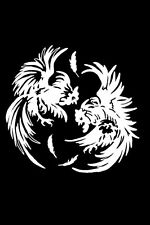 ~FIGHTING ROOSTERS~ Decal Sticker Chicken Car Truck NEW