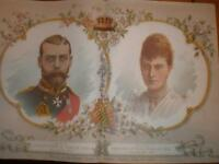UK Prince George (KGV) marries Mary 1893 colour prints