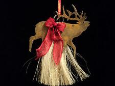 Genuine Horsehair Elk Western Christmas Ornament