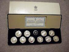 1988 CANADA CALGARY WINTER OLYMPICS SILVER PROOF SET - 10 oz Total ASW