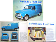 Renault 4 7 cwt Van 1972-73 Original UK Sales Brochure