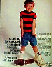 1969 Converse Mens~Boys Tennis Shoes All Stars Basketball Memorabilia Promo AD
