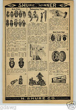 1913 PAPER AD Roly Poly Doll Dolls Figures Novelty Tape Rules Reels