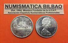 CANADA 1 DOLLAR 1965 VOYAGER SILVER COIN KM.64.1 PLATA ARGENTO SILBER DOLAR