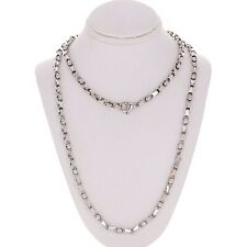 "14k White Gold Handmade Fashion Link Necklace 24"" 4.5mm 44.5 grams"