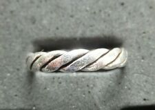 *Bn* Diagonal Stripes *strong, sturdy ring* .925 New listing Solid Silver Toe Ring X 1