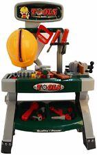 Kids Tool Bench Work Toddler Pretend Children Handyman Table Boys 40 Piece Hat