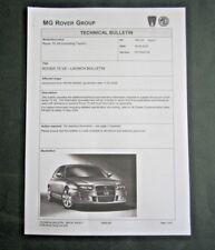 ROVER 75 V8 - RARE UK 2004 TECHNICAL BULLETIN / INTERNAL / PRESS