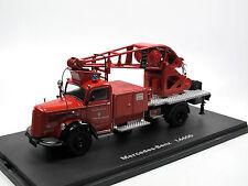 Schuco 03101 Mercedes-Benz L 6600 Kranwagen Feuerwehr Offenbach 1:43