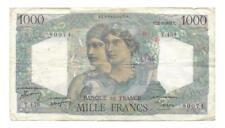 Billets de la banque française, sur minerve