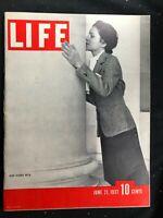 LIFE MAGAZINE  June 21 1937  KING EDWARD VIII Wallis Simpson / Braddock vs Lewis