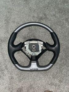 JDM 00-09 Honda S2000 Type V Steering Wheel VGS Flat Bottom OEM Silver RARE
