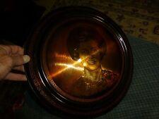 Vintage LACQUER PAINTED WOMAN PORTRAIT COPPER ETCHING Signed: Konya