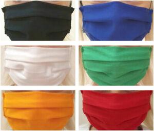 Face Mask Machine wash 3 colours Cotton Washable Reusable Protective