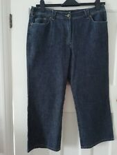 Ladies Principles size 14 denim cropped trousers