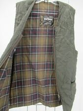 I8774 VTG Barbour Men's Plaid Lining Quilted Waistcoat Size (42/107 Cm)
