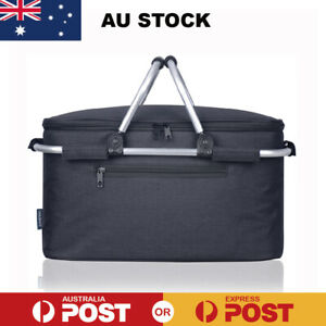 Eaglemate Foldable Outdoor Picnic Insulated Cooler Baskets Storage Totes Tampers