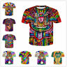 Women/Men Cartoon Hippie Musician 3D Print Casual Tshirt Funny Short Sleeve Tops