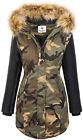Designer femme veste parka manteau d'Hiver à doublure chaude damenjacken XS-XL