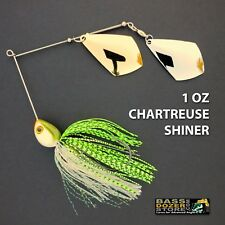 Bassdozer spinnerbaits TROPHY ROYAL 1 oz CHARTREUSE SHINER spinner bait lures