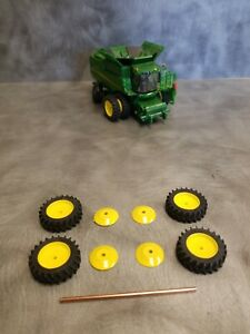 1/64 Farm custom scratch Combine 20.8R46 tire kit 4 tires spacers and axle