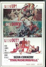 James Bond 007 SEAN CONNERY Thunderball Motion Picture Advertising Postcard