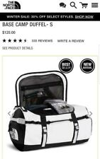 The North Face Base Camp Duffel Bag Small White Missing Straps New