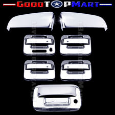 For Ford F150 2009-2014 Chrome Covers Set Top Mirrors+ 4 Doors KEYPAD+Tailgate K