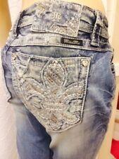 """Miss Me Signature Boot jeans  size 28 - NWT - inseam 29"""" - Vintage Fleur De Lis"""