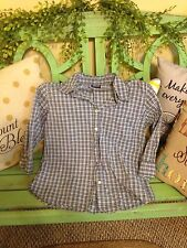 Women's small blue checked jordache shirt