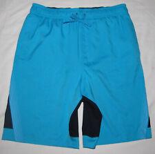 New Nike Beam Momentum Blue Black Lined Swim Trunks Shorts Mens Size Medium 30