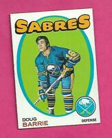 1971-72 TOPPS # 22 SABRES DOUG BARRIE ROOKIE  NRMT-MT CARD (INV# C5627)