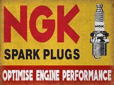NGK Spark Plugs, Retro metal Sign vintage / man cave / Garage